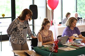 Clark County workers at a benefits fair.