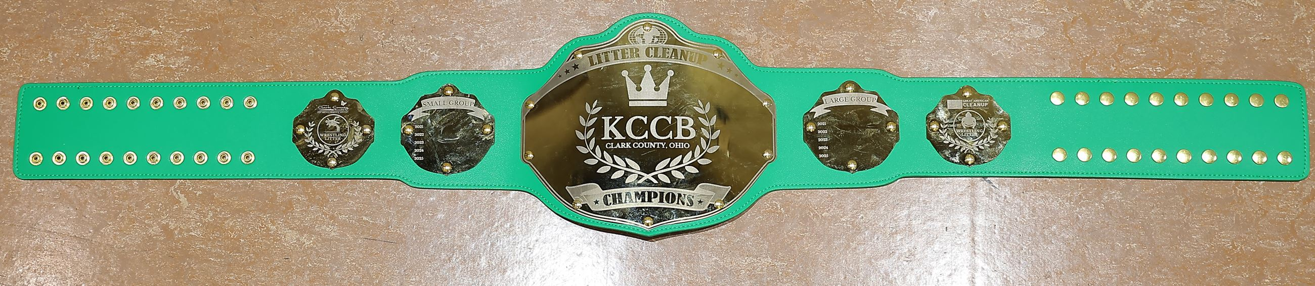 KCCB Litter Cleanup Championship Belt